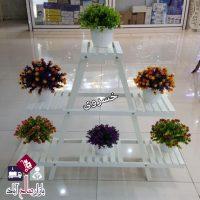 فروش عمده پایه گلدان پله ای مثلثی
