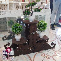 فروش عمده پایه گلدان ۳ طبقه MDF طرح جدید