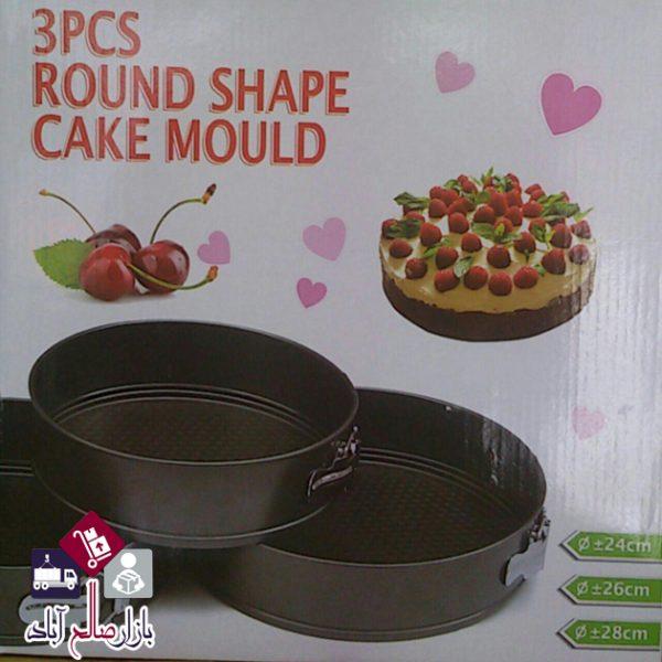 فروش عمده ست قالب کیک تفلون کمربندی