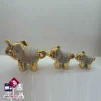 فروش عمده ست مجسمه فیل طلایی