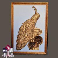 فروش عمده تابلو نقش برجسته مدل طاووس