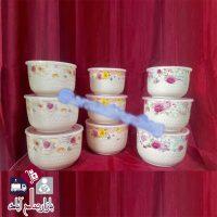 فروش عمده ظرف سه تکه سرامیکی گلدار