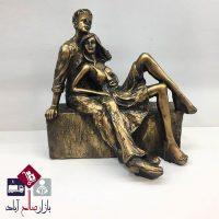 فروش عمده مجسمه پلی استر دختر و پسر