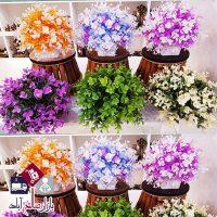 فروش عمده گلدان گل شمشاد مصنوعی