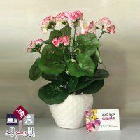 فروش عمده گلدان شمعدانی مصنوعی
