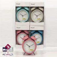 فروش عمده ساعت شماطه رنگی مات
