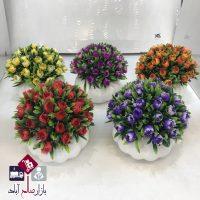 فروش عمده گلدان گل تزئینی لاله شیک