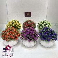 فروش عمده گلدان گل نسترن مصنوعی