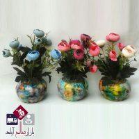 فروش عمده گلدان سرامیکی بوته فندقی