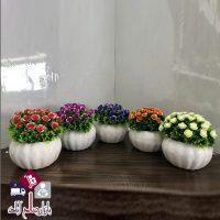 فروش عمده گلدان توپی گل رز دکوری