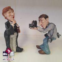 فروش عمده مجسمه ۲ عددی پیر مرد عکاس