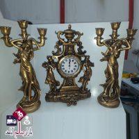 فروش عمده ساعت و شمعدان رومیزی فرشته