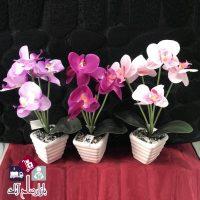 فروش عمده گلدان گل مصنوعی ارکیده