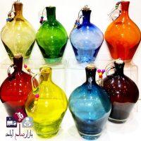 فروش عمده بطری آب رنگی شیشه شفاف