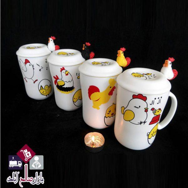 فروش عمده ماگ سرامیکی طرح مرغ و خروس