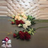 فروش عمده شاخه گل رز مصنوعی سه عددی
