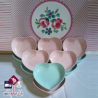 فروش عمده ست پیاله شش تایی طرح قلب