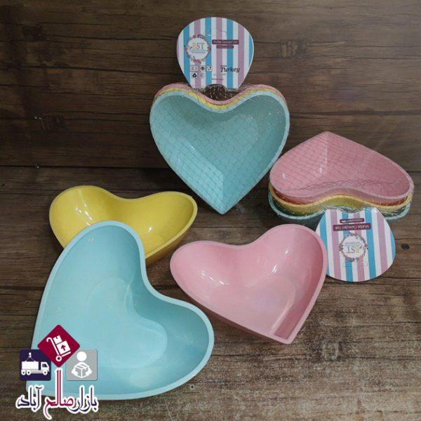 فروش عمده ست پیاله طرح قلب ۳ عددی