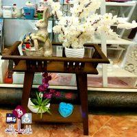 فروش عمده پایه گلدان چوبی مدل ایکیا