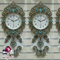 فروش عمده ساعت دیواری نگین فیروزه ای