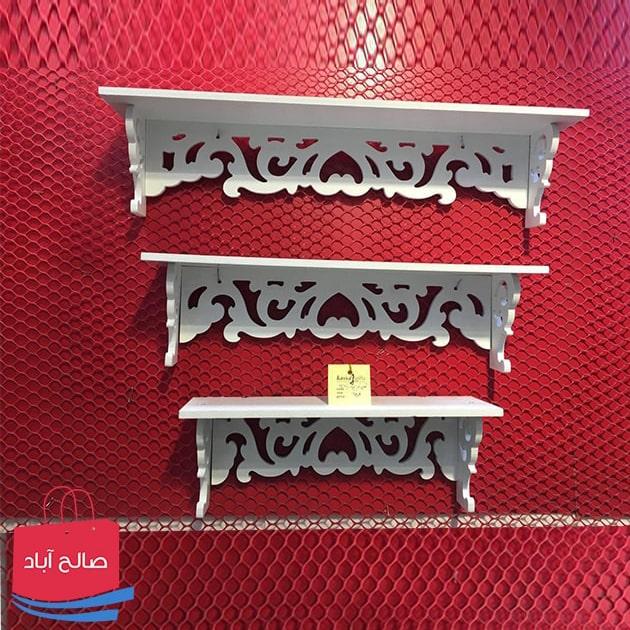 فروش عمده شلف دیواری سفید ۳ تایی