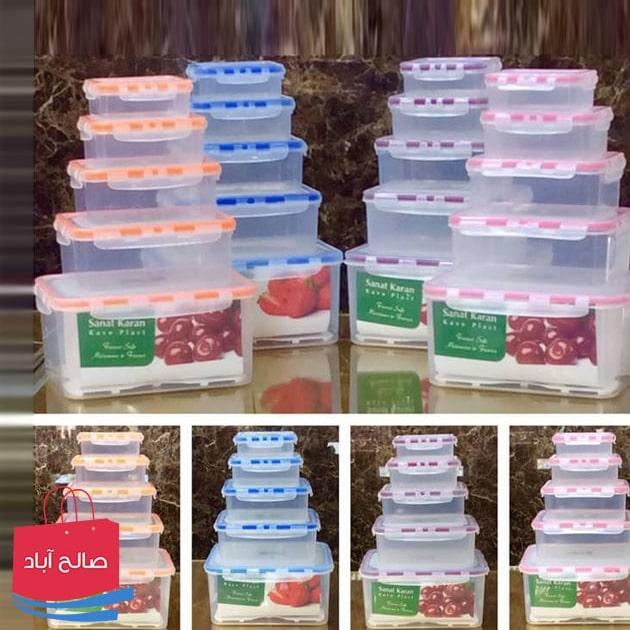 فروش عمده ظرف غذا پلاستیکی پنج تایی