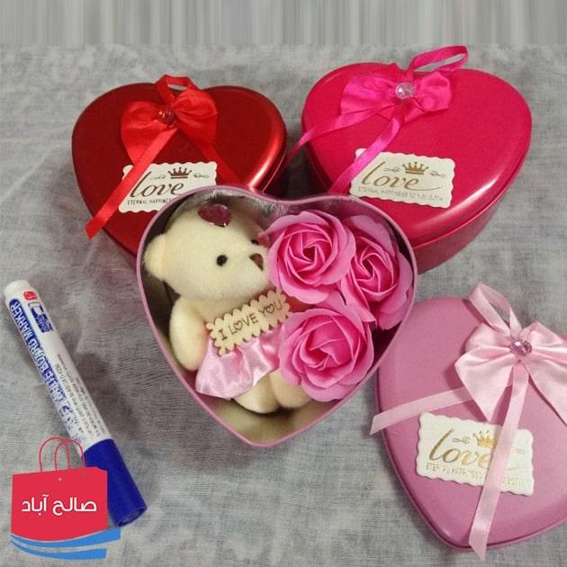 فروش عمده جعبه کادویی ولنتاین طرح قلب
