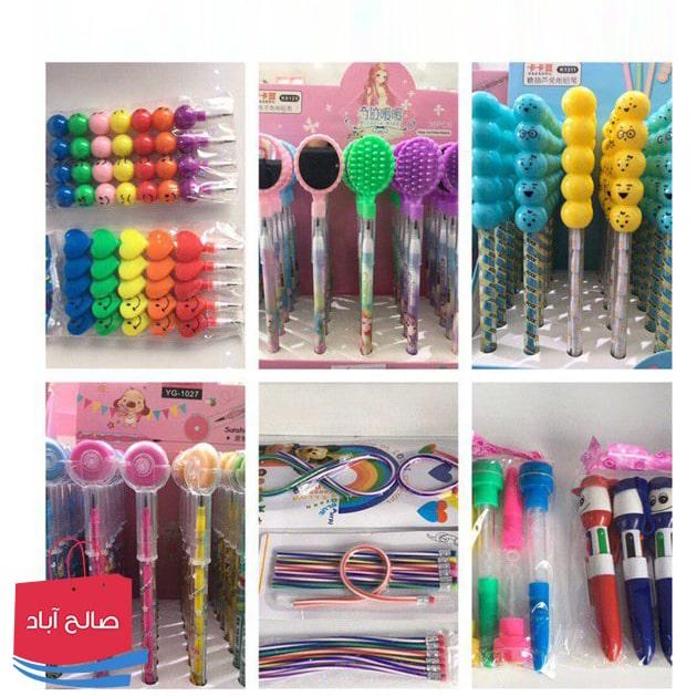 فروش عمده مداد و پاک کن های بچگانه