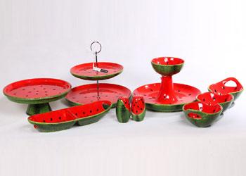 فروش عمده انواع سرویس سرامیکی طرح هندوانه