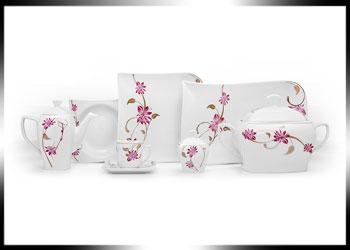 فروش عمده انواع سرویس ظروف گلدار