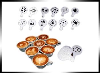 فروش عمده انواع شابلون طراحی قهوه