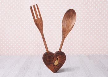 فروش عمده انواع قاشق چنگال چوبی