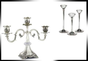 فروش عمده انواع شمعدان تزئینی