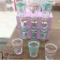فروش عمده ست لیوان شیشه ای ابرو Ebru