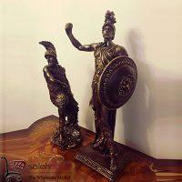 فروش عمده مجسمه دکوری سرباز سپر دار