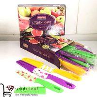 فروش عمده چاقو غلاف دار طرح میوه