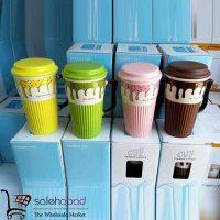 فروش عمده ماگ درب دار سرامیکی Ice Cream