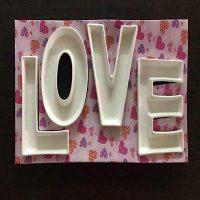 فروش عمده اردو خوری ۴ تکه طرح Love