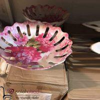 فروش عمده ظرف میوه خوری ملامین گلدار