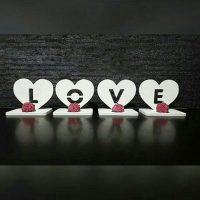 فروش عمده جا شمعی طرح LOVE
