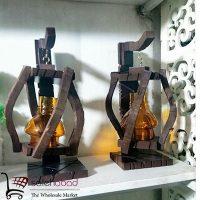 فروش عمده فانوس جای شمع پایه دار دکوری