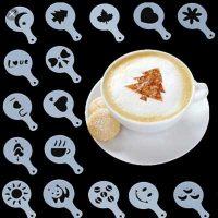 فروش عمده شابلون طراحی روی قهوه