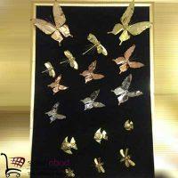 فروش عمده مگنت پروانه طلایی و نقره ای
