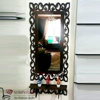 فروش عمده آینه قدی قهوه ای طاقچه دار