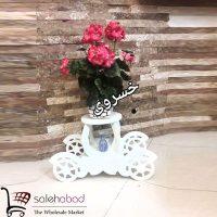 فروش عمده پایه گلدان طرح کالسکه چرخدار