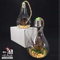 فروش عمده گلدان شیشه ای طرح لامپ