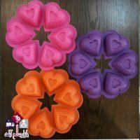 فروش عمده قالب دسر و کیک ۶ تایی طرح قلب