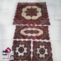 فروش عمده رومیزی چهارگوش با آستر قرمز