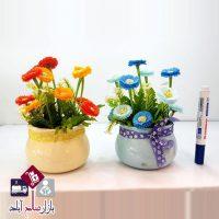فروش عمده گلدان سرامیکی گل همیشه بهار