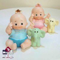 فروش عمده مجسمه رزین نوزاد و فیل